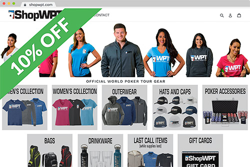 ShopWPT Official World Poker Tour Clothing, Wear and Gear