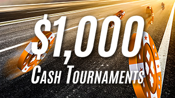 Mid-week $1,000 online poker cash tournaments