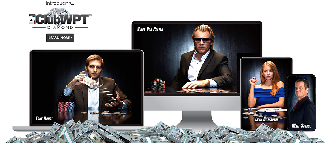 World Poker Tour Online Poker, Vince Van Patten, Lynn Gilmartin, Tony Dunst, Matt Savage